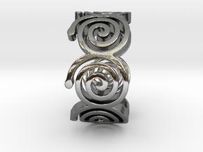 Seven Spirals Ring in Premium Silver: 7 / 54