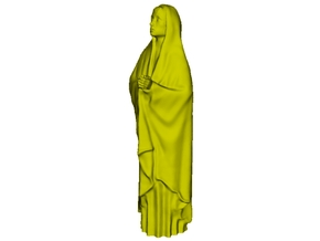 1/15 scale female with long cloak praying figure in Smooth Fine Detail Plastic