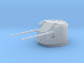 1/600 RN WW2 Dual 5.25 Inch Guns 1941 (5) in Smoothest Fine Detail Plastic