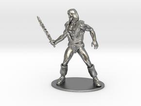 Thundarr the Barbarian Miniature in Raw Silver: 1:55