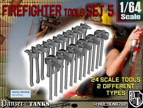 1/64 Firefighter Tools Set5 in Smooth Fine Detail Plastic