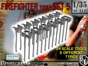 1/35 Firefighter Tools Set5 in Smooth Fine Detail Plastic