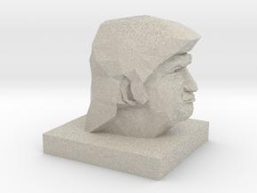 Trump Head in Natural Sandstone: 1:10