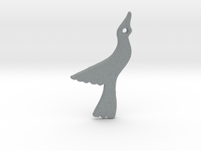 Seagull in Polished Metallic Plastic