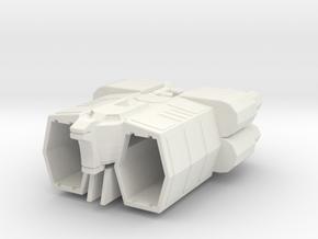 COLUMBUS Gundam  in White Natural Versatile Plastic: 1:2400