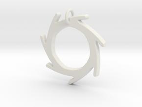 Seven Lines II - Sun in White Natural Versatile Plastic