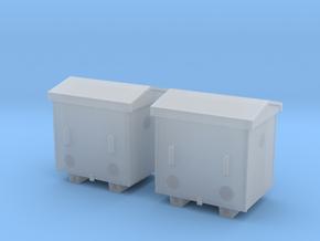 TJ-H04652x2 - Caisses à piles acier galvanisé peti in Smooth Fine Detail Plastic