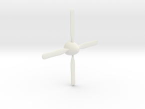 P-51 Mustang propeller  in White Natural Versatile Plastic: 1:32