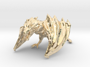 Game Of Thrones Dragon (large) in 14k Gold Plated Brass