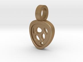Luna Pendant in Matte Gold Steel