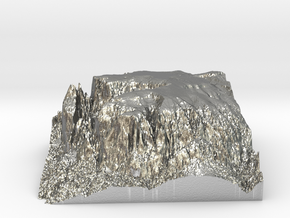 "MyTinyDolomites ""Schlern / Sciliar"" at ""Seiser Alm in Natural Silver"