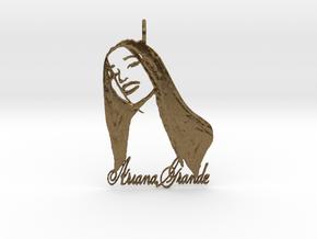 Ariana Grande Pendant - Ariana Grande Fan Pendant  in Natural Bronze