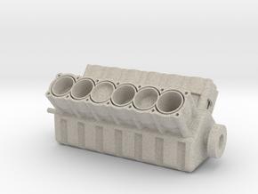 V12 Engine in Natural Sandstone: 1:8