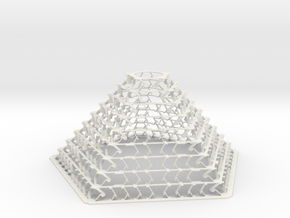 Pentagonal Pyramid Staggered for Led Bulb E27 Lamp in White Natural Versatile Plastic