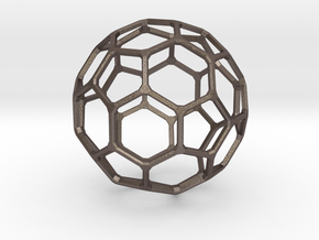 Buckyball Mini in Polished Bronzed Silver Steel