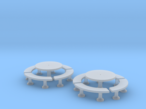 TJ-H01140x2 - Tables beton rondes in Smooth Fine Detail Plastic