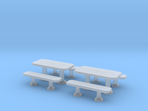 TJ-H01141x2 - Tables beton rectangulaires in Frosted Ultra Detail
