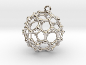 BuckyBall C60 Earring, Silver, 1.7cm in Platinum