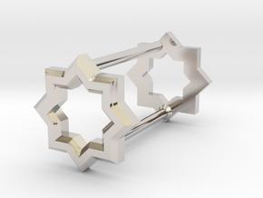 8 Pointed Star Stud in Platinum: d4