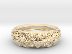 Arc Ring in 14k Gold Plated: 8 / 56.75