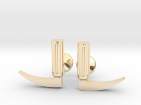 Laryngoscope cufflinks (gold + other metals) in 14k Gold Plated Brass