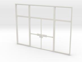 Double Office Door 1:35 scale in White Natural Versatile Plastic