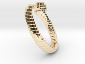 archetype - pearl ring in 14k Gold Plated Brass: 5 / 49