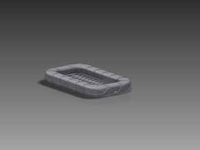 25 Man Rectangular Raft x 12 1/192 in Smooth Fine Detail Plastic
