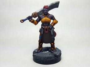Half Orc Barbarian in Black Hi-Def Acrylate