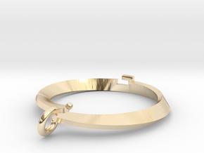 Pendant bi metal  loop Small in 14k Gold Plated Brass