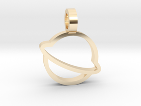 Saturn Pendant in 14K Yellow Gold