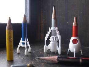 Enpiturocket3  The Pencil rockets in White Natural Versatile Plastic