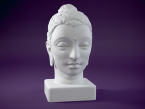 Gandhara Buddha 8 inches in White Natural Versatile Plastic