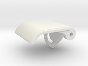 Rear Seat Release Handle in White Natural Versatile Plastic
