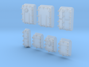 1/500 Royal Navy Assorted Hatches with Blast Plate in Smoothest Fine Detail Plastic
