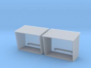TJ-H01130x2 - Abribus béton, grands in Smooth Fine Detail Plastic