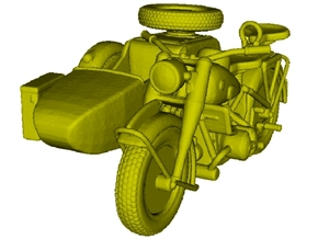 1/87 scale WWII Wehrmacht R75 motorcycle x 1 in Smooth Fine Detail Plastic