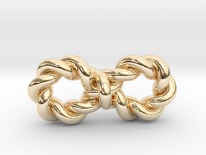 "Twistfinity Pendant .8"" in 14k Gold Plated Brass"