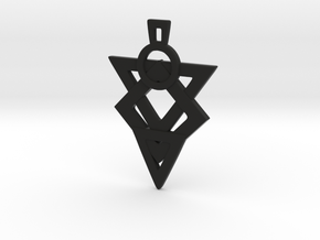 Glyph of Hatred Pendant in Black Strong & Flexible