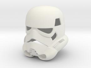 Stormtrooper Helmet in White Natural Versatile Plastic