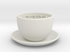 Clock-coffee in White Natural Versatile Plastic