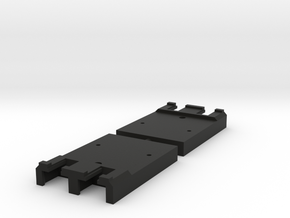 "Unijoiner adapter for Peco 009 track ""inlay"" in Black Natural Versatile Plastic"