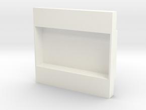 1.5 BellUH1D Overpanel in White Processed Versatile Plastic