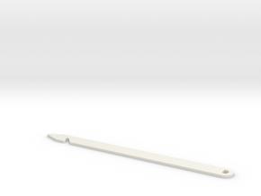 Long Heddle Threading Hook in White Natural Versatile Plastic