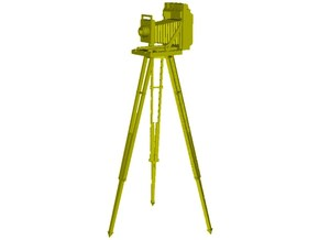 1/32 scale vintage camera with tripod x 1 in Smoothest Fine Detail Plastic