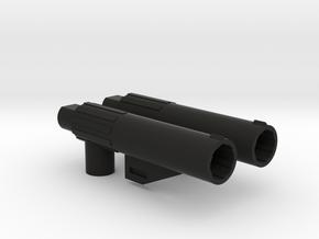 CW/UW Bruticus/Baldigus Cannon Extensions in Black Natural Versatile Plastic