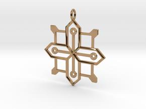 Carja Pendant in Polished Brass