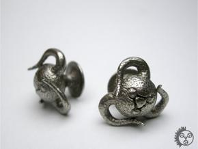 Tentacle Creature Cufflinks in Stainless Steel