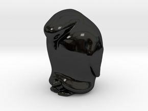 Penguin And Child Solid in Gloss Black Porcelain