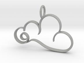 Curvy Cloud Pendant Charm in Aluminum